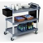 APS Wózek kelnerski trzypółkowy z polipropylenu | 1080x500x960mm