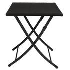 Bolero Stół składany czarny | 60x60x(H)71cm