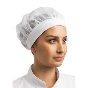 Whites Chefs Clothing Wygodny czepek biały