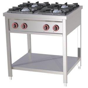 Redfox Kuchnia gazowa wolnostojąca 4 palnikowa | 25kW