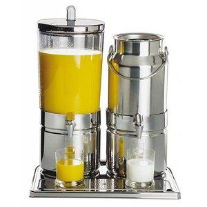 APS Dyspenser do soków i mleka podwójny | 6+5L | 420x350x(H)520mm
