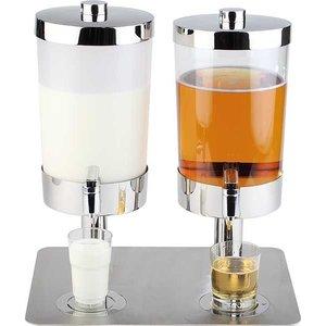 APS Dyspenser do soków i mleka podwójny | 2x6L | 350x450x480mm