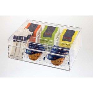 APS Pudełko ekspozycyjne na herbatę | przeźroczyste | 220x170x(H)90mm