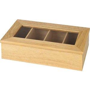APS Pudełko ekspozycyjne na herbatę | bez napisu | beżowe | 335x200x(H)90mm