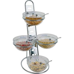 APS Etażera bufetowa | 4 salaterki x 2,5 l | 390x310x660mm