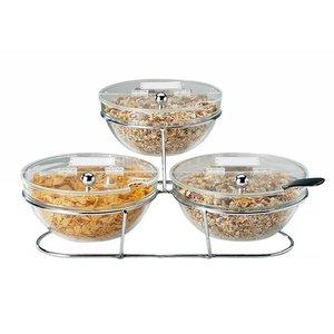 APS Etażera bufetowa | 3 salaterki x 2,5L | 500x500x180mm