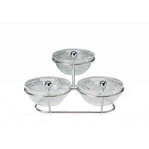 APS Etażera bufetowa | 3 salaterki x 0,5L | 300x300x140mm