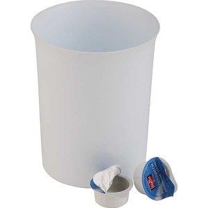 APS Stołowy pojemnik na odpadki z tworzywa sztucznego | 0,9L | biały