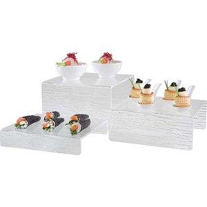 APS Komplet dekoracyjnych standów z tworzywa 200mm | zestaw 3 sztuk
