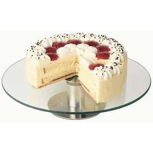 APS Obrotowa patera ze szkła do tortów i ciast | śr. 300x(H)70mm