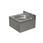 XXLselect Umywalka ze stali nierdzewnej | jednokomorowa | bateria stojąca | 400x400x(H)220mm