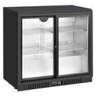Resto Quality Barowa szafa chłodnicza  | chłodziarka podblatowa | 210l | drzwi przesuwne