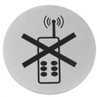 Hendi Tabliczka informacyjna samoprzylepna | zakaz używania telefonów | śr.75mm