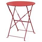 Bolero Czerwony stalowy stolik Pavement Style marki Bolero 595mm