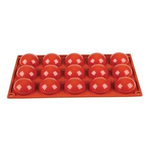 Pavoni 15 silikonowych półkulistych form Formaflex marki Pavoni