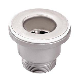XXLselect 38 mm mosiężne chromowane sitko do zlewu z nakrętką łączącą i mocującą