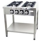 Resto Quality Kuchnia gazowa | wolnostojąca | 4 palnikowa | z półką | gastronomiczna | profesjonalna | 28kW