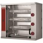 Diamond Chicken spits gas 3 forks (9 chickens) | 100W | 230V | 800X400x (H) 735mm