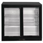 Polar Refrigeration Bar refrigerator with sliding door 208L