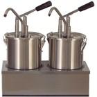 Saro Dispenser voor sauzen 2 x 4,5 L | roestvrij staal