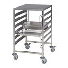 Saro Trolley met werkblad containers transporteren en laden 12x GN1 / 1 | 595x670x (H) 1025mm