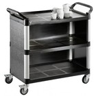 Saro 3-plate waiter trolley made of plastic 1020x500x (H) 960mm