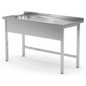 XXLselect Table with a sink. All steel furniture available in any size!