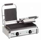 Bartscher Contact Grill Double Electric - grooved plates | 3600W