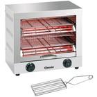 Bartscher Toaster dubbele RVS grill timerfunctie | 440x260x400 mm