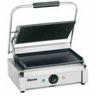 "Bartscher Grill Contact Electric ""Panini"" - Upper Grooved, Lower Smooth 2200W"