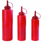 TOM-GAST Dispenser for sauces red capacity. 0.25 - 0.7L
