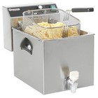 Hendi Mastercook fryer with drain tap and cold zone | 8L | 3500W | 230