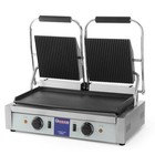 Hendi Double contact grill | grooved-smooth | 3.6kW | 475x230mm
