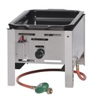 Hendi Bake-master mini gas frying pan | 290x480mm | 5.8kW | 340x540x (H) 300 mm