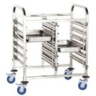 XXLselect Double cart for transporting containers and trays | 12x GN1 / 1 | 550x740x (H) of 1000 mm