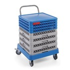 XXLselect Trolley with dishwasher basket holder 545x575x (H) 920mm