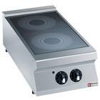 Diamond Elektrische keuken witoceramiczna 2-zone desktop | 2x 3,4kW | 400x900x (H) 250 / 320mm
