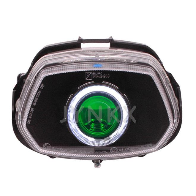 Angel eye Vespa Sprint wit + groene devil eye ingebouwd
