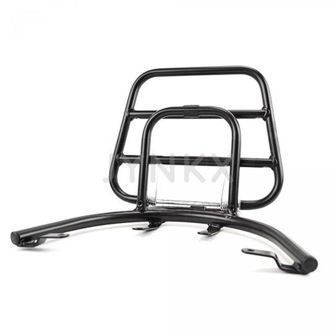 Achterdrager / klapdrager Piaggio zip mat zwart (A-kwaliteit)