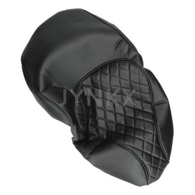 Custom zadelhoes, buddydek Vespa Primavera / Sprint zwart