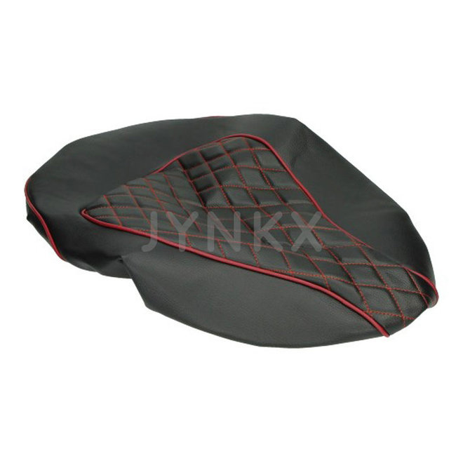 Custom zadelhoes, buddydek Vespa Primavera / Sprint rood