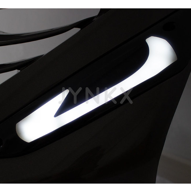 Knipperlicht set led tube Piaggio zip (voorkant, wit)