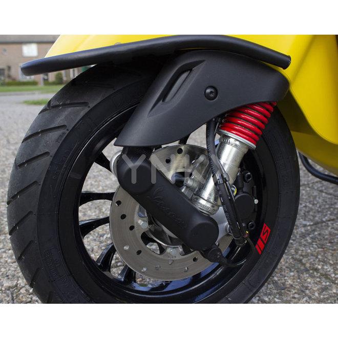 Beschermkap voorvork Vespa Primavera / Sprint nieuw model (mat zwart)