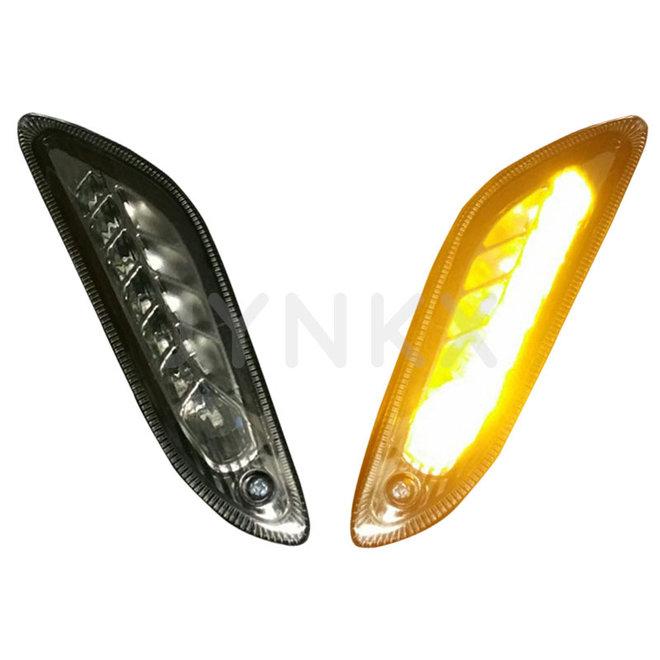 Knipperlichtset led dagrijverlichting Vespa Primavera / Sprint licht smoke achterkant
