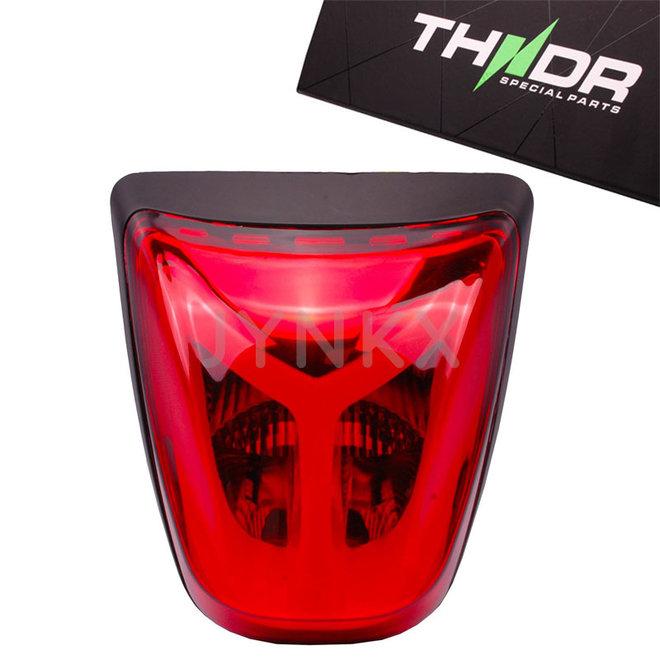 Achterlicht LED tube THNDR Vespa Primavera / Sprint rood glans zwart