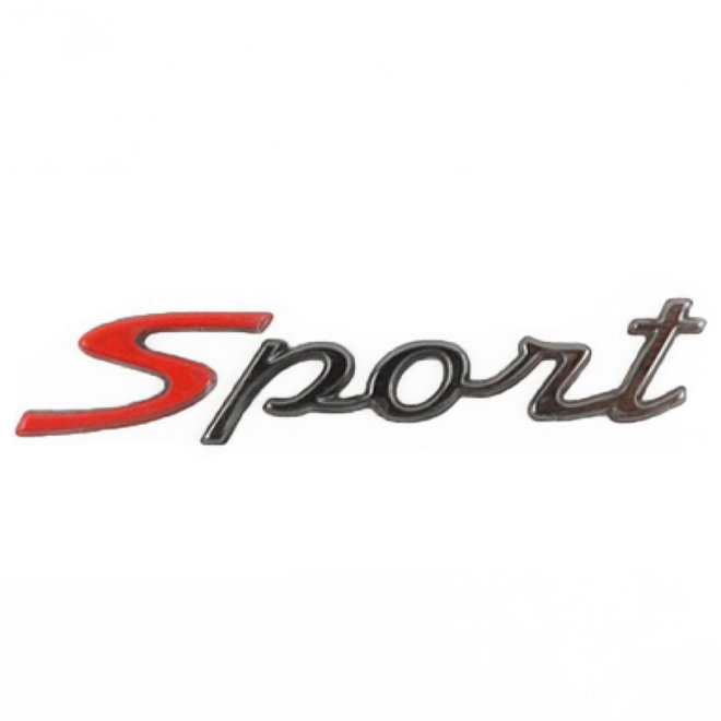 Embleem Vespa S (Sport) chroom origineel