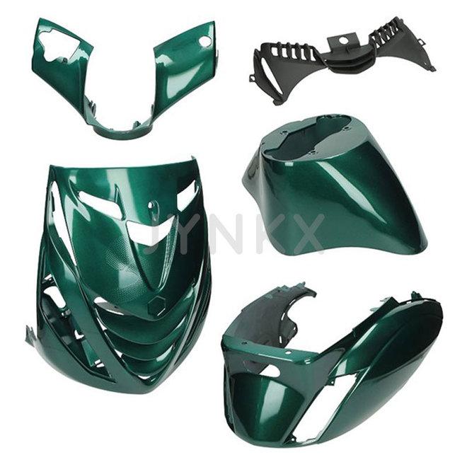 Kappenset Piaggio zip Jaguar green 5-delig (SP look)