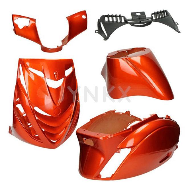 Kappenset Piaggio zip amber/oranje 5-delig (SP look)