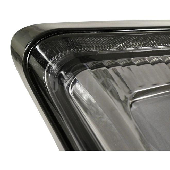 Achterlicht Vespa GTS LED tube smoke '2019- (glans zwart frame)