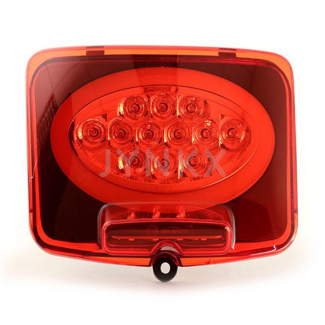 Achterlicht Vespa GTS LED tube rood ovaal (2014-2018, facelift)